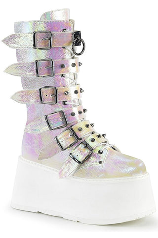 Demonia DAMNED-225 Boots Pearl