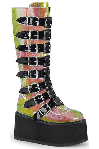 Demonia DAMNED 318 Boots Pink