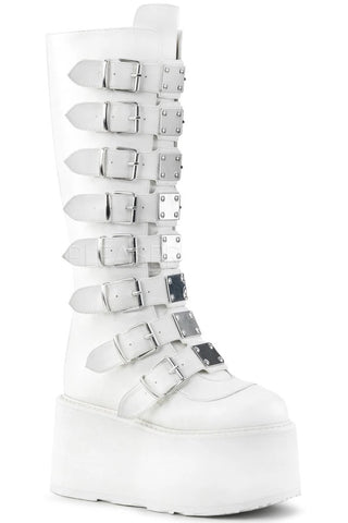 Demonia DAMNED-318 Boots White