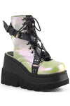 Demonia SHAKER-56 Boots Green Black