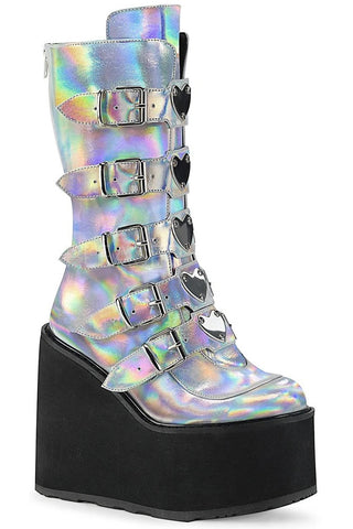 Demonia Silver SWING-230 Boots