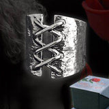 Et Nox Stainless Steel Story of O Corset Ring - Fetshop