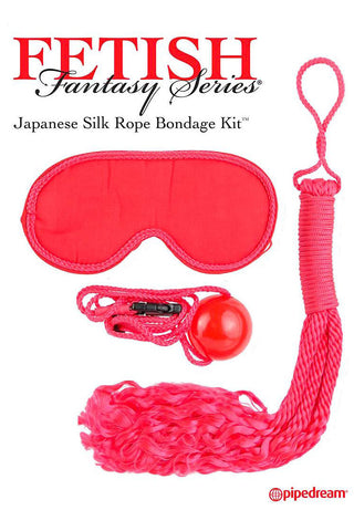 Fetish Fantasy Japanese Silk Rope Kit