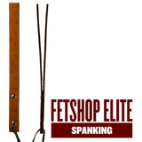 Spanking Paddle Tan Leather Double Layer Ruler - Fetshop
