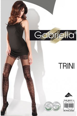 Gabriella Trini Swirl Design Tights - Fetshop
