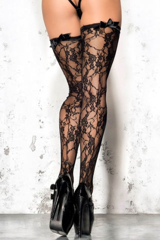 Me Seduce Black Lace Stockings ST04 - Fetshop