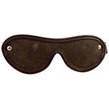 Bound Nubuck Leather Blindfold