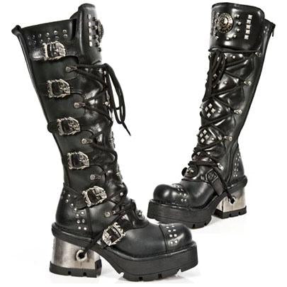 New Rock Ladies Knee Skull Boots M.1030-S1