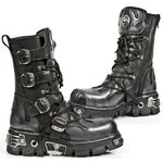 New Rock M591 S2 Silver Flames Boots