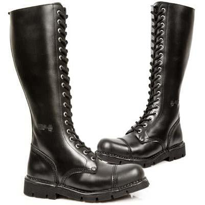 New Rock Military Laced Boots M.NEWMILI19-S1