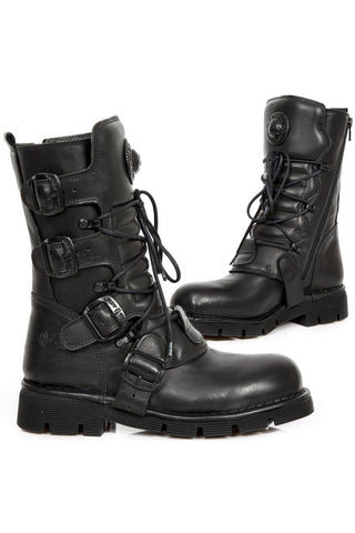 New Rock Black Comfort Light Boots M.1473-S49
