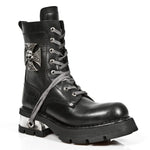 New Rock Biker Boots Skull Cross Badge M.1623