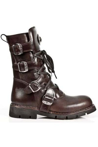 New Rock Brown Leather Boots M.1473-S8