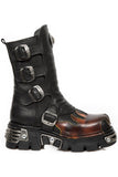 New Rock M.591X S1 Boots Red Flame