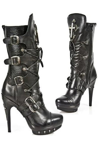 New Rock Ladies Cross Boots M-PUNK061-S1