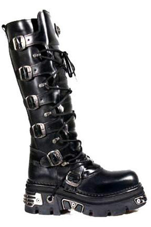 New Rock Boots, Reactor Sole Boots with Buckles, 272 Boots