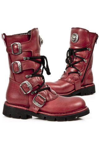 New Rock Red Comfort Boots M.1473-S12
