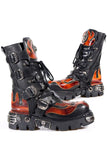 New Rock Flame Boots with Demon Skull M.107-S1