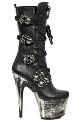 New Rock Spiked Platform Boots M.DEVIL001-S3