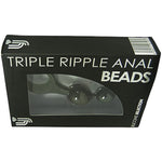 Loving Joy Triple Ripple Anal Beads-Black - Fetshop
