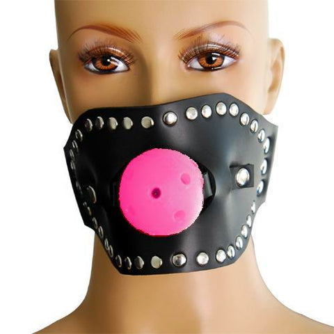 Open Mouth Restraint and Ball Gag Pink - Fetshop