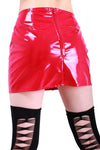 PVC Mini Skirt - Red - Fetshop