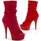 Pleaser DELIGHT-1031 Boots Red