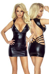 Provocative PR6080 Wet look Dress Black