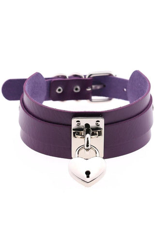 Purple Heart Padlock Collar