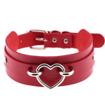 Red Gothic Heart Collar