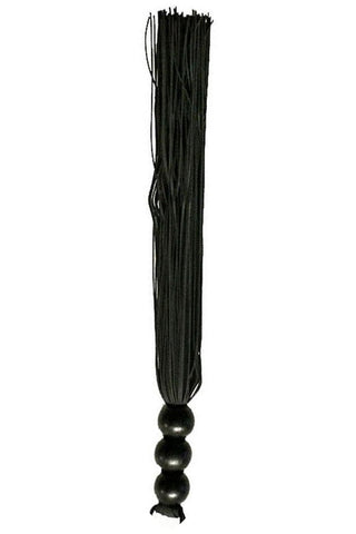 Sex and Mischief Black 10 Inch Rubber Flogger