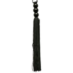 Sex and Mischief Black 10 Inch Rubber Flogger - Fetshop