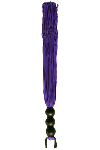 Sex and Mischief Purple 10 Inch Rubber Flogger