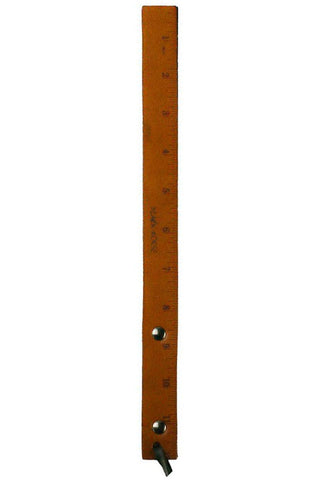 Spanking Paddle Tan Leather Double Layer Ruler