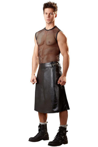 Svenjoyment Imitation Leather Kilt