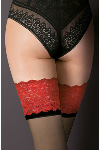 Gabriella Victoria Hold Ups Black/Red
