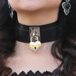 Black Heart Padlock Collar