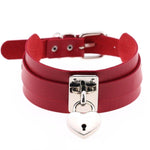 Red Heart Padlock Collar