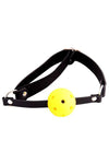 Yellow Ball Gag with Adjustable Strap