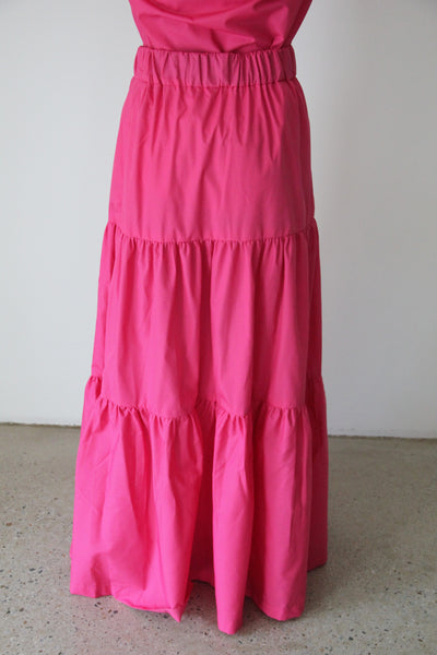 Pink Long Fairwell Skirt