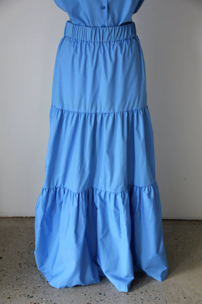 Sky Blue Long Fairwell Skirt