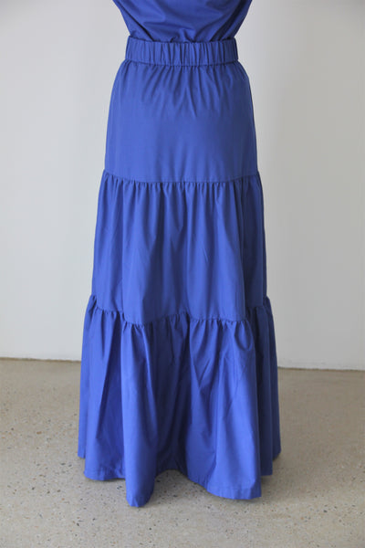 Royal Blue Long Fairwell Skirt