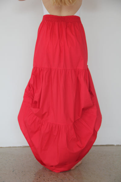 Red So LONG Fairwell Skirt