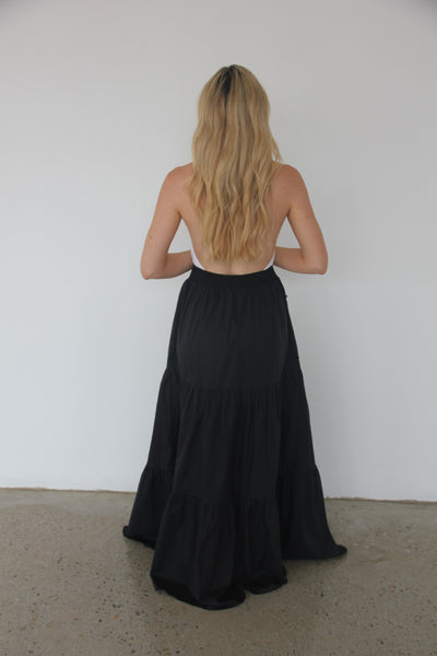 Black So Long Fairwell Skirt