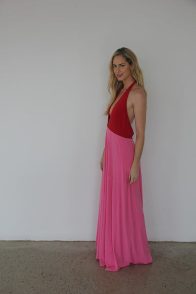 Two-toned Dress(Red&Pink)