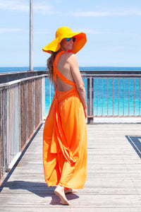 Orange Saint Tropez Signature Jumpsuit