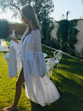 White Beach Wrap Dress