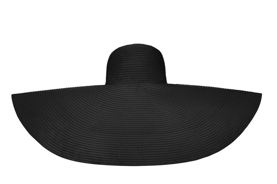 Black La Plage Hat(Super Large)
