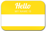 Sticker Name tag Yellow