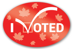 I Voted Stickers Canada Election